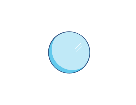 Blau getönte ACUVUE® Kontaktlinse