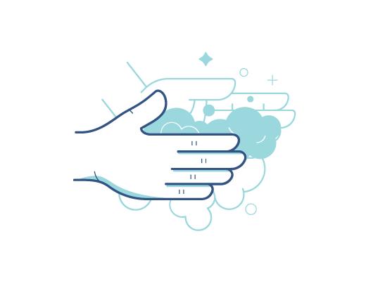 Gründliches Händewaschen