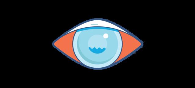 Illustration eines roten Auges